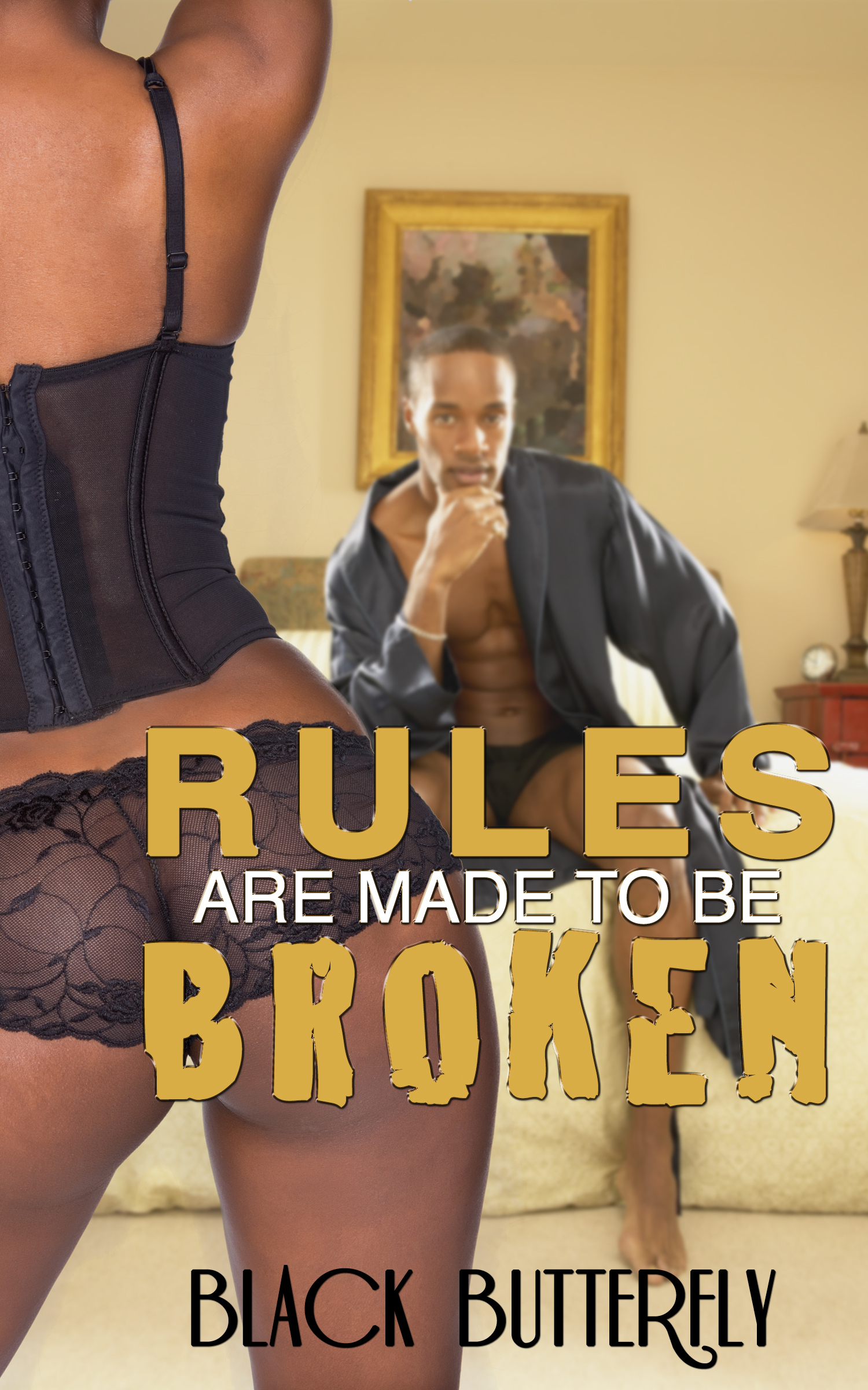 Rules Are Made To Be Broken Black  Butterfly
