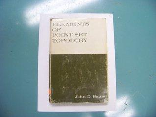 Elements of Point Set Topology Baum. John D. by John D. Baum