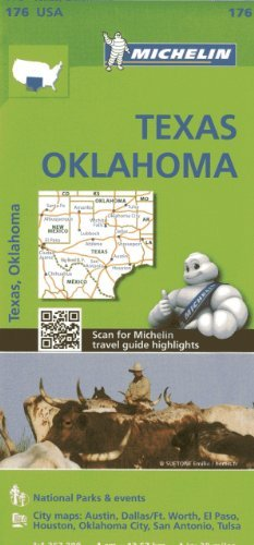 Michelin USA Texas, Oklahoma Map 176  by  Michelin