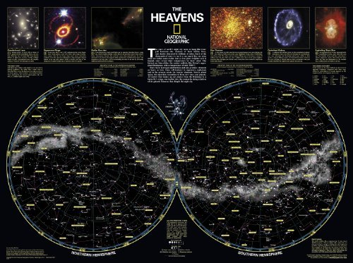 The Heavens [Tubed] National Geographic Maps - Reference