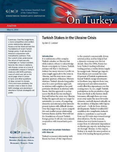 Turkish Stakes in the Ukraine Crisis  by  Ian O. Lesser