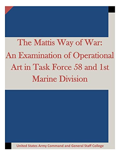 The Mattis Way of War: An Examination of Operational Art in Task Force 58 and 1st Marine Division United States Army Command and General Staff College