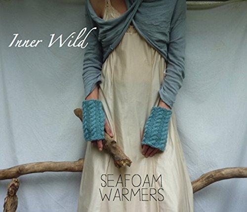 Inner Wild Seafoam Warmers: beautiful cable fingerless gloves easy knit pattern  by  Inner Wild