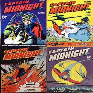 Captain Midnight. Issues 11, 12, 41 and 42. Murder in Mexico, the dayn of Kukulkan, Sinister Angels, A panormama of sky perils, Shatters of the Skyways. Digital Sky Comic Compilations Heroes Heroines Digital Sky Comic Compilations