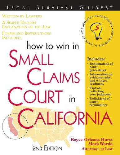 How To Win In Small Claims Court In California Royce Orleans Hurst