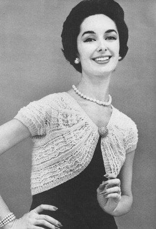 1950s Knitted Shrug - Vintage Pattern Vintage Pattern Collection