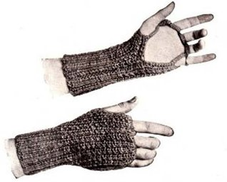 Knit Men & Womens Outing Driving Gloves Knitting Pattern Unknown