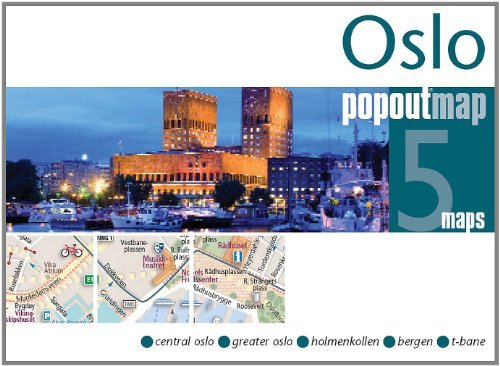 Oslo PopOut Map: pop-up city street map of Oslo city center - folded pocket size travel map with transit map included  by  Popout Maps