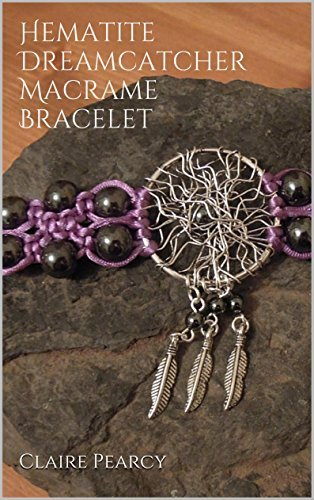 Hematite Dreamcatcher Macrame Bracelet  by  Claire Pearcy
