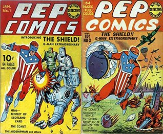 Pep Comics. Issues 1 and 3. The Shield, G-man Extraordinary. Golden Age digital comics superheroes and Heroines. Golden Age Heroes and Heroines Comics