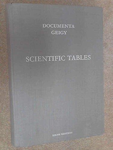 Documenta Geigy Scientific Tables K Diem