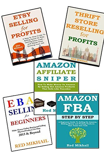 5 in 1 BUSINESS IN A BOX: THRIFT STORE RESELLING - AMAZONS ASSOCIATE PROGRAM - AMAZON FBA - EBAY SELLING - ETSY SELLING Red Mikhail