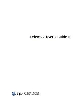 EViews 7. User´s Guide II Eviews