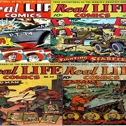 Real life comics. Issues 14, 19, 30 and 44. True adventures of the worlds greatest heroes. Canada Nothern Good Neighbour and Badman plus Water wasps and the fighting seabees. Digital Comics Digital Sky Comic Compilations