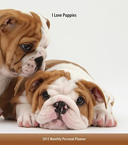 I Love Puppies 2015 Monthly Personal Planner BrownTrout