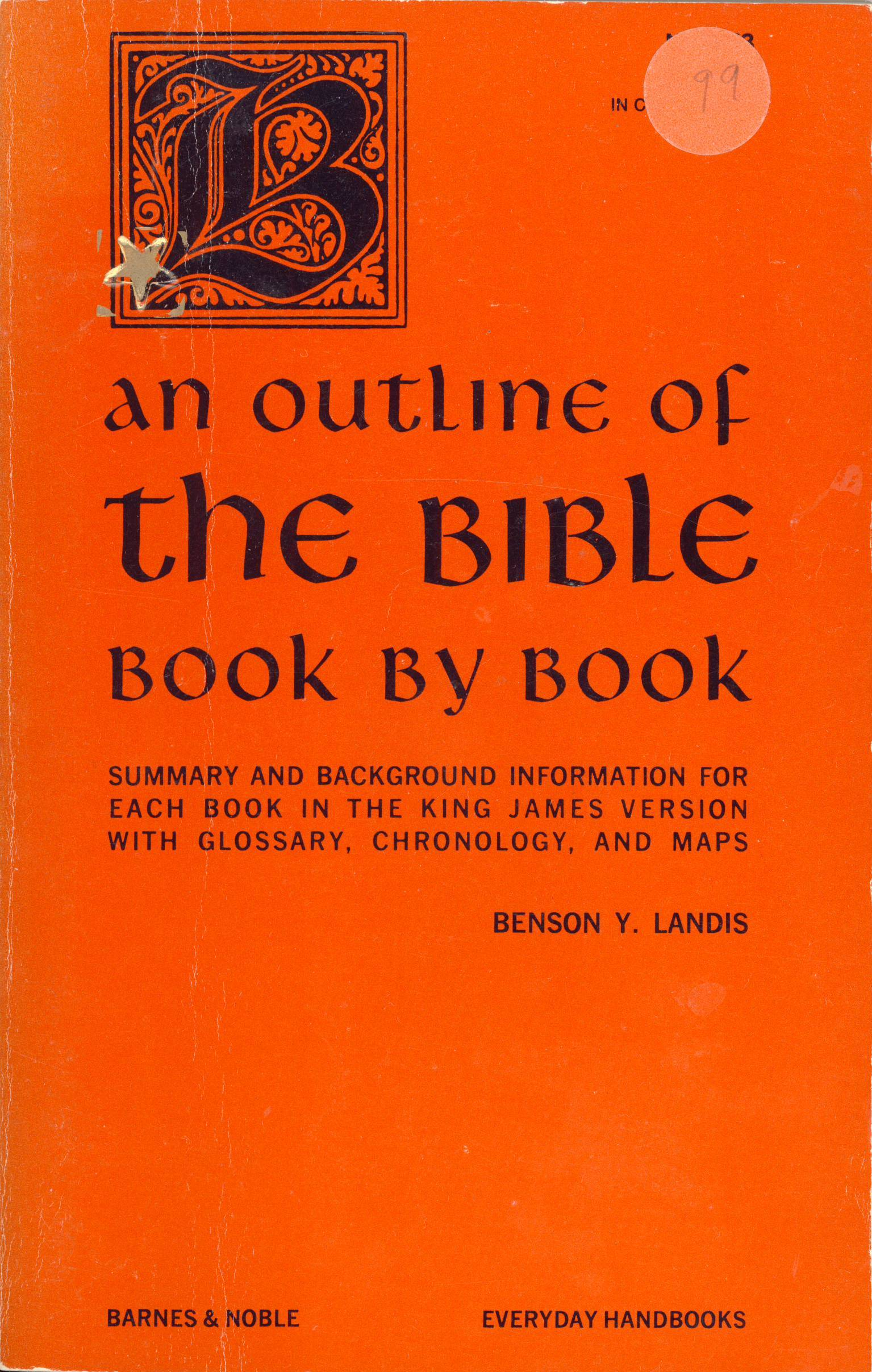 An Outline of the Bible, Book Book by Benson Y. Landis