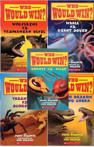 Who Would Win? Showdown 5 Book Set: Who Would Win? Hornet Vs. Wasp / Who Would Win? Wolverine Vs. Tasmanian Devil / Who Would Win? Whale Vs. Giant Squid / Who Would Win? Tarantula Vs. Scorpion / Who Would Win? Komodo Dragon Vs. King Cobra Jerry Pallotta