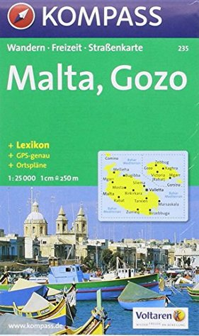 Malta & Gozo 235 GPS kompass (Aqua3 Kompass) Kompass-Karten