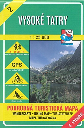 High Tatra Mountains (Slovakia) 1:25,000 Hiking Map #2, VKU VKU Slovakia