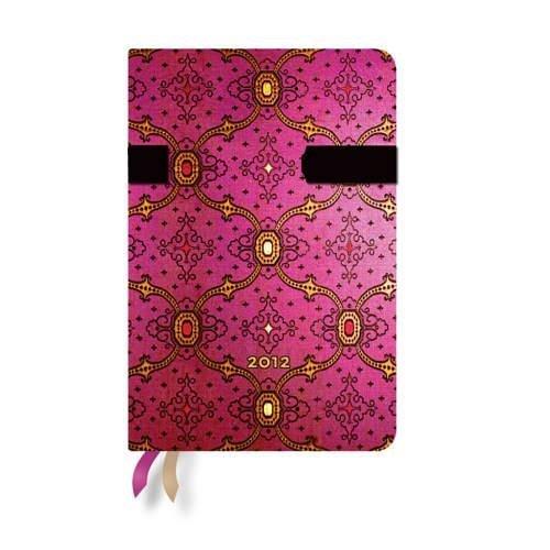 2012 French Ornate Fuchsia Mini Diary  by  Various