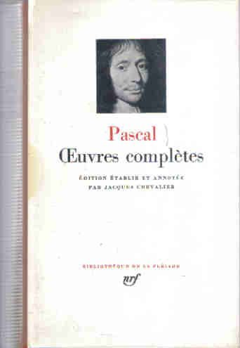 Pascal : Oeuvres completes  by  Blaise Pascal