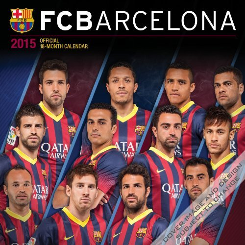 FC Barcelona 2015 Square 12x12 BrownTrout