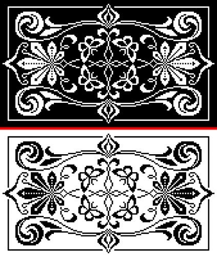 Cleome and Butterflies Table Runner: Wings and Leaves in Filet Crochet Athena Works
