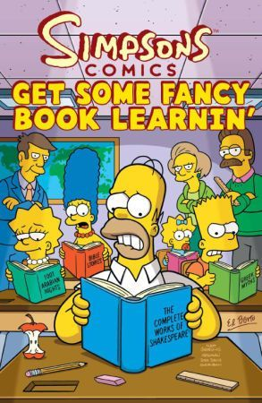 Simpsons Comics Gets Some Fancy Book Learnin  by  Sherri L. Smith