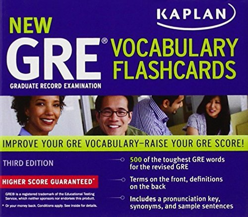 Kaplan New GRE Vocabulary Flashcads Kaplan