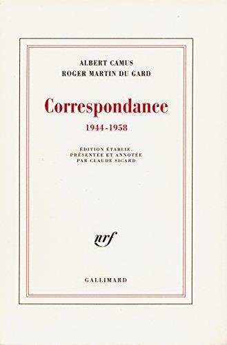 Correspondance (1944-1958): (1944-1958) (blanche) Albert Camus
