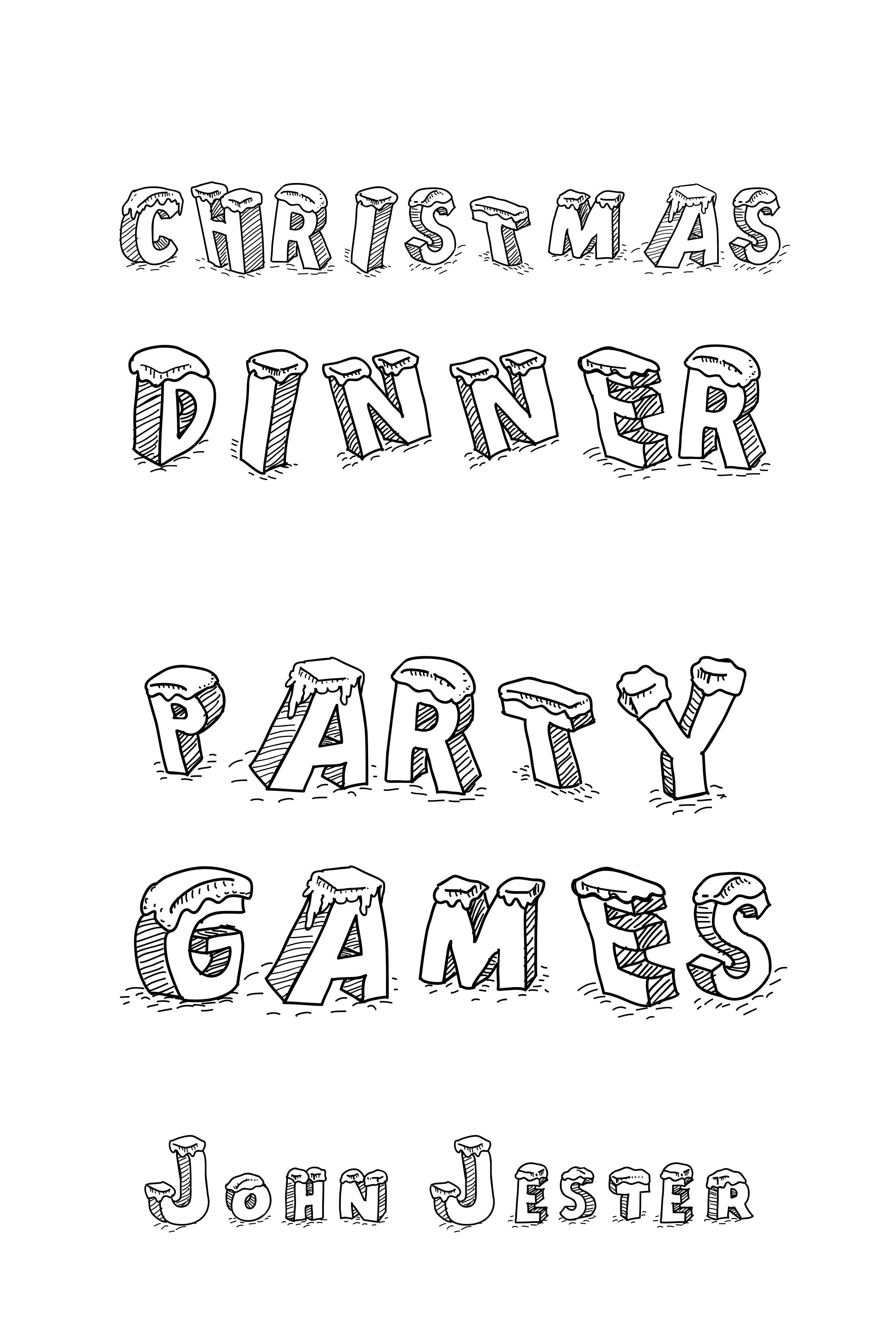 Christmas Dinner Party Games John Jester
