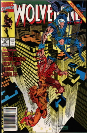 Wolverine Vol 2 #42  by  Larry Hama