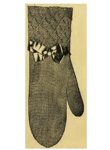Ladys Mittens. Vintage Crochet Pattern Unknown