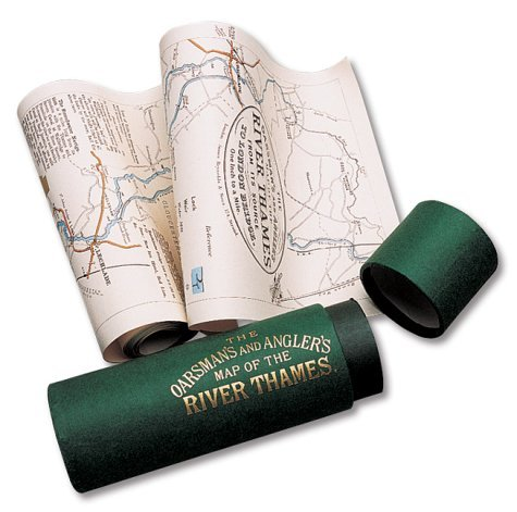 Oarsmans and Anglers Map of the River Thames  by  E.G. Ravenstein