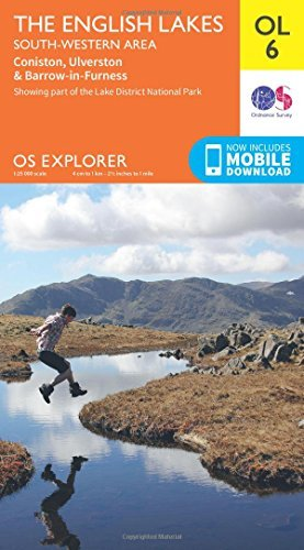 OS Explorer OL6 The English Lakes - South Western area Ordnance Survey