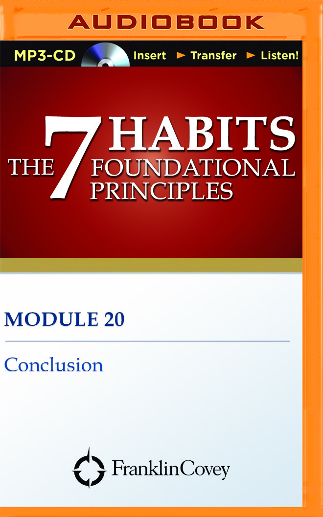 Module 20 - Conclusion Franklin Covey