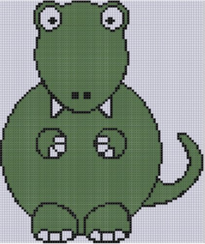 Dinosaur Cross Stitch Pattern  by  Mother Bee Designs
