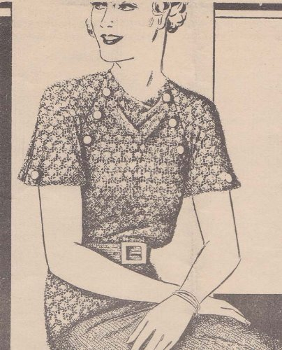 Knitted Blouse and Skirt Pattern Laura Wheeler #1133 Sizes 16-18 and 38-40  by  Charlie Cat Patterns