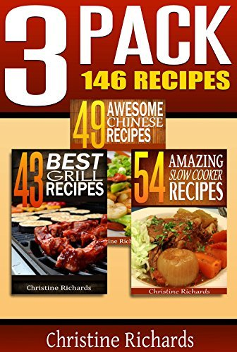 3 Pack: 146 Recipes (A Christine Richards Cookbook Collection)  by  Christine Richards