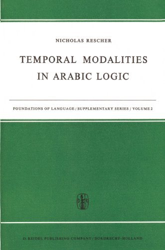 Temporal Modalities in Arabic Logic (Foundations of Language Supplementary Series) N. Rescher