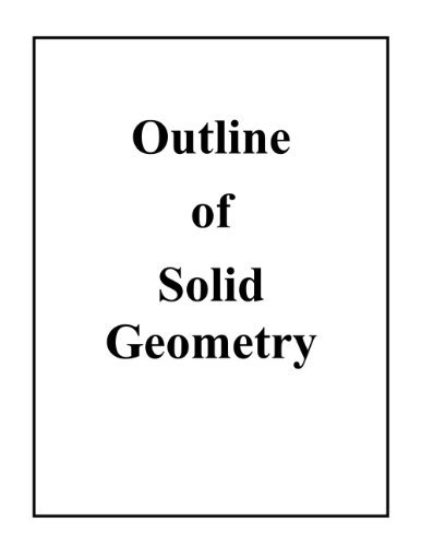 Outline of Solid Geometry  by  John F. Moore