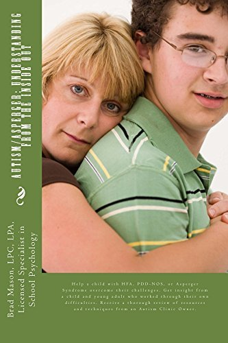 Autism/Asperger: Understanding from the Inside Out Brad Mason LPC LPA Licensed Specialist in School Psychology