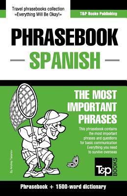 English-Spanish Phrasebook and 1500-Word Dictionary  by  Andrey Taranov
