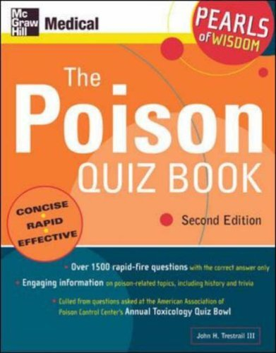The Poison Quiz Book John Harris Trestrail III