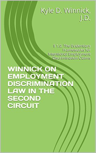 WINNICK ON EMPLOYMENT DISCRIMINATION LAW IN THE SECOND CIRCUIT: § 1.0. The Evidentiary Frameworks for Intentional Employment Discrimination Claims Kyle Winnick