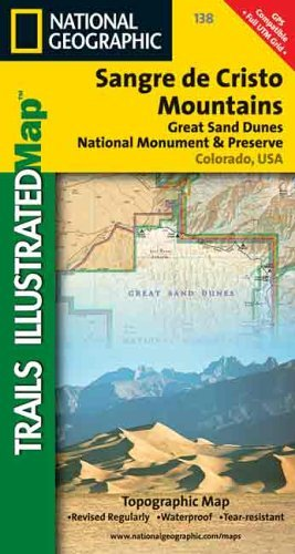 Sangre de Cristo Mountains Map (Trails Illustrated Map, 138) National Geographic Society