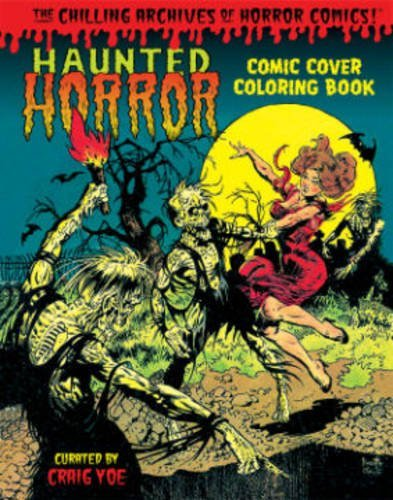 Haunted Horror Pre-Code Cover Coloring Book Volume 01  by  Frank Frazetta
