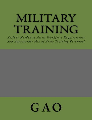 Military Training: Actions Needed to Assess Workforce Requirements and Appropriate Mix of Army Training Personnel  by  The GAO