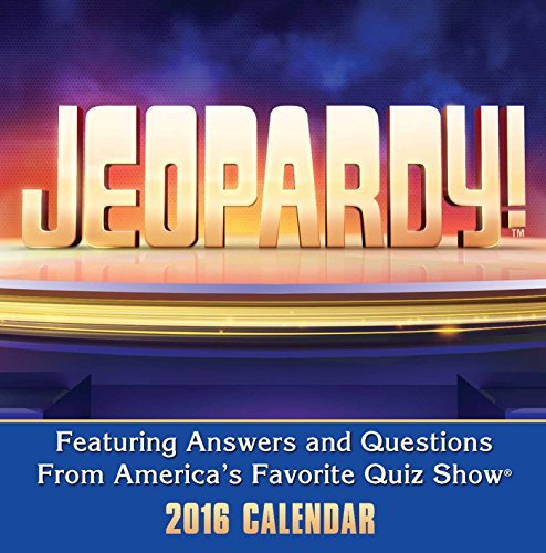Jeopardy! 2016 Day-to-Day Calendar Sony