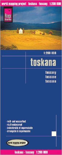Tuscany (Toscana, Italy) 1:200,000 Travel Map, waterproof, GPS-compatible REISE Reise Knowhow